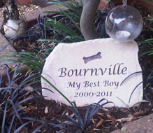 garden geature memorial for best boy