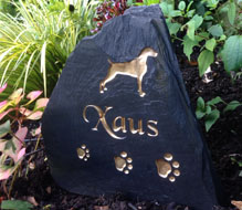 large pet memorial for doggie